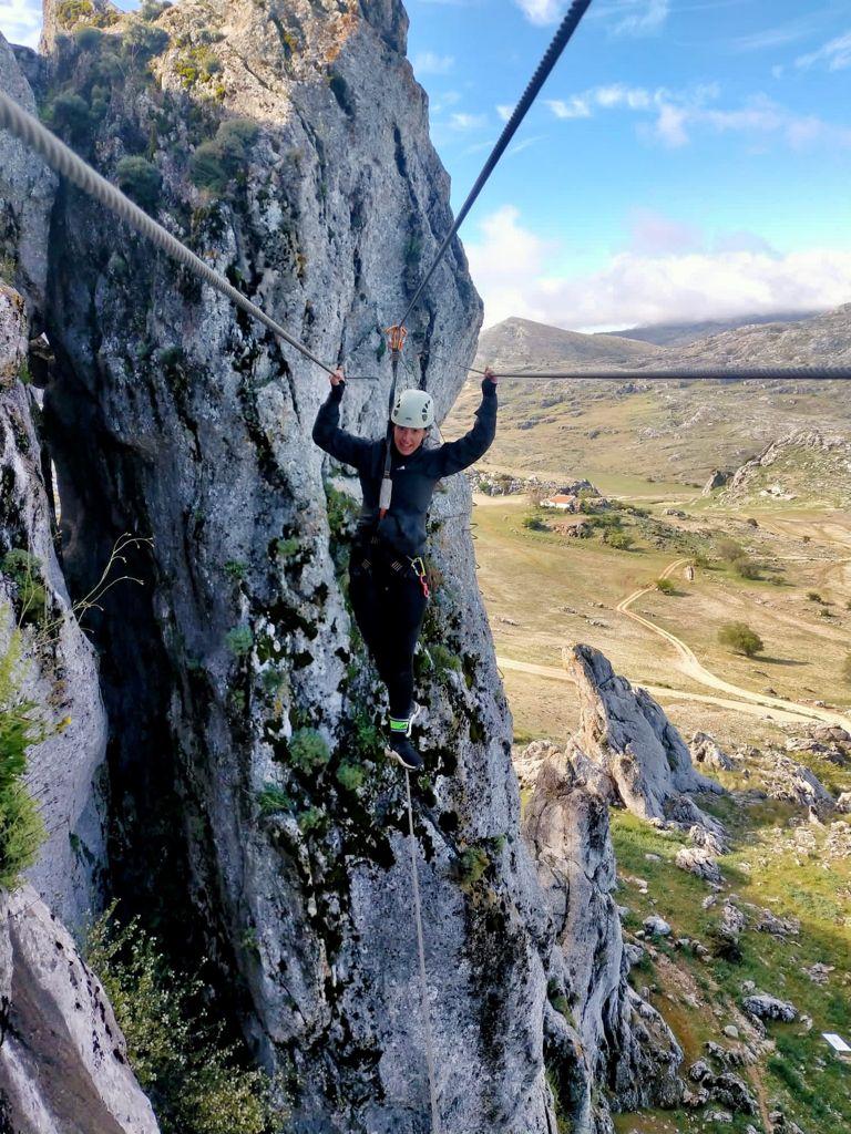 Vía Ferrata Cueva Horá En Loja Granada